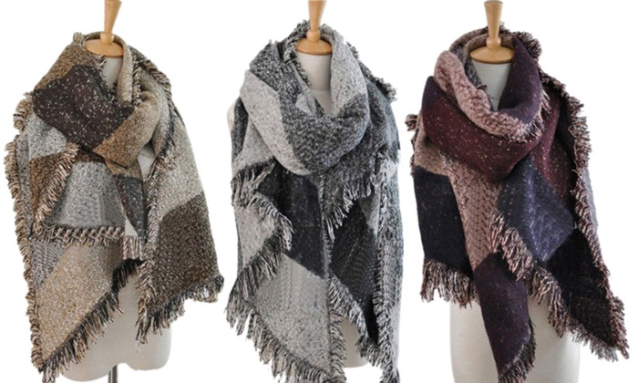 Groupon Goods Global GmbH: Echarpe extra large style Pashmina Oversize, super tendance