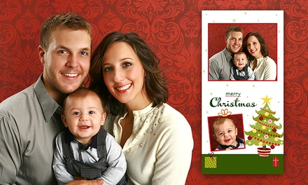 Custom Holiday Photo Card Packages from Picture People (Up to 90% Off). Four Options Available.