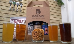 indiebeer: Craft Beer Tasting Session with Snacks and Optional Gift Pack for Up to Four from indiebeer (Up to 32% Off)