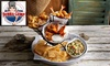 Bubba Gump Shrimp Co - Bubba Gump Shrimp Co: Two-Course Meal with Wine, Beer or Soft Drink for Up to Four at Bubba Gump Shrimp Co. (up to 30% off)