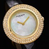 Women's Akribos XXIV Swarovski Crystal Mother of Pearl Dial Watch