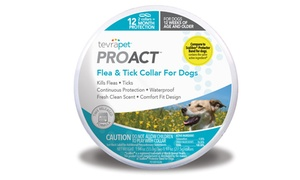 TevraPet ProAct Flea and Tick Collars for Dogs (Set of 2)