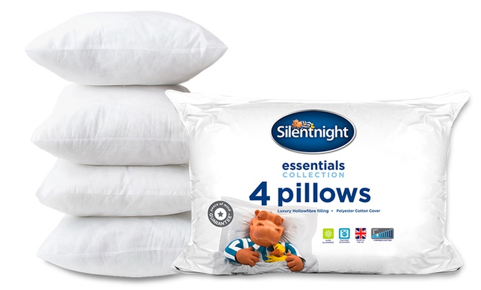 Four-Pack of Silentnight Essential Pillows for €18.99 (48% Off)
