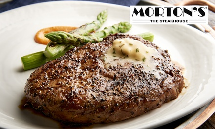 groupon.com - One $50 or $100 eGift Card Toward Carry-Out or Dine-In at Morton's The Steakhouse (Up to 15% Off)
