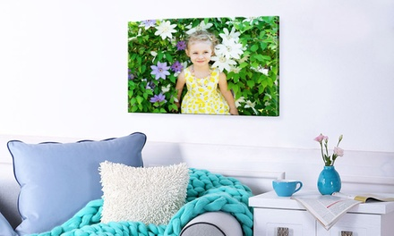 Personalised Canvas in Choice of Sizes from Photo Gifts
