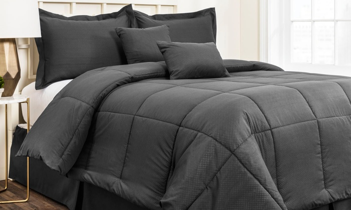 Merveilleux Hotel New York Embossed Comforter Set (6 Piece) ...