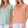Lyss Loo Women's V-Neck Tunic Tops (3-Pack)