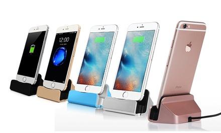 1 ou 2 Stations de charge pour iPhone 5, 5C, 5S, SE, 6, 6S, 6+, 6S+, 7, 7+/8/8+, avec câble tressé de chargement