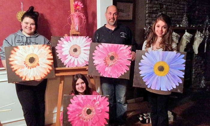 Paint 2gether - Worcester: Painting Party for 6 or 10 at Paint 2gether (Up to 59% Off)