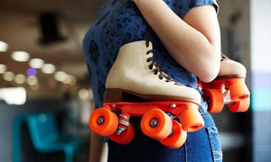 Admission and Roller-Skate Rental for 2, 4, 6, or 10 at Carousel Skate Center (Up to 78% Off)