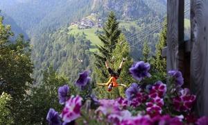Zipline San Tomaso: Esperienza di volo con zipline sulle Dolomiti per una persona all'impianto Zipline San Tomaso