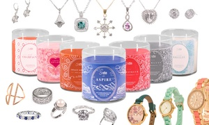 Jewelry In Candles: Candles with Jewelry from Jewelry In Candles (Half Off). Two Options Available.