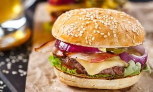 Old Growler: Two-Course Burger Dinner with Drinks for Two ($35) or Four People ($69) at Old Growler, Woolloomooloo (Up to$126 Value)