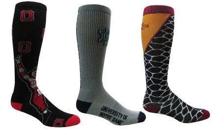 NCAA Team Knee-High Retro Socks