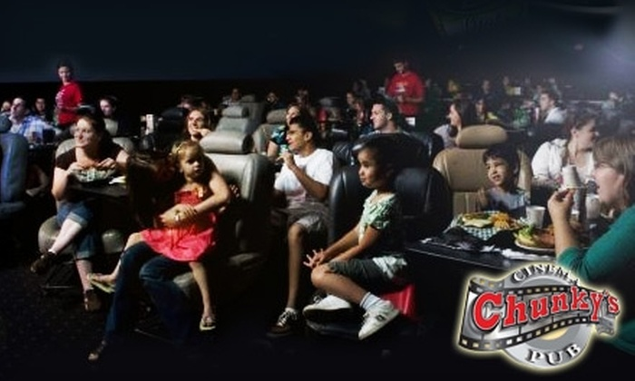 Chunky's Cinema Pub - Multiple Locations: $10 for One Admission, Popcorn, and Casual Fare at Chunky's Cinema Pub