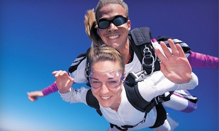Jumping For Fun - Springfield: $135 for a Tandem-Skydive Jump at Jumping for Fun ($225 Value)