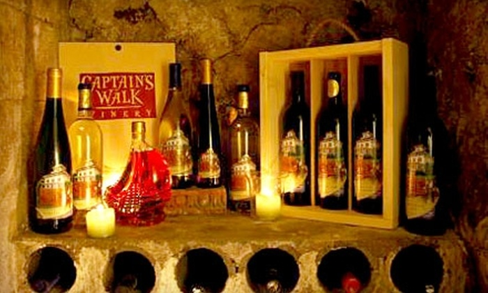 Captain's Walk Winery - Green Bay: $10 for Two Glasses of Wine and Two Wine Tastings Plus 10% Off a Bottle of Wine (Up to a $20 Value)