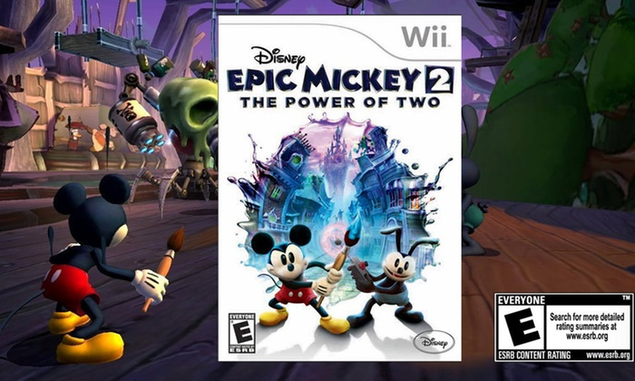 Disney Epic Mickey 2: The Power of Two: $11.99 for Disney Epic Mickey 2: The Power of Two for Nintendo Wii ($39.99 List Price). Free Returns.