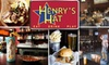 55% Off Pub Fare at Henry's Hat