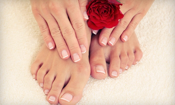 Touched by A.Muse - Fairgrounds: $39 for a Chocoholic or Romance and Roses Mani-Pedi at Touched by A.Muse ($80 Value)