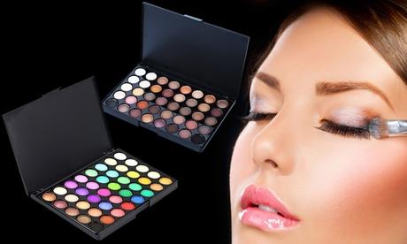 1 o 2 paletas de sombras de ojos de 40 colores