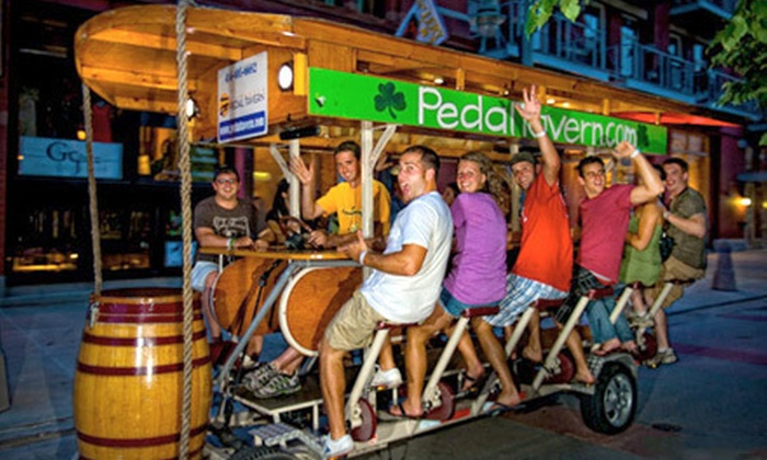 Milwaukee Pedal Tavern - Harbor View: $25 for Two Seats on Pedaling Pub Crawl Happy Hour Tour from Milwaukee Pedal Tavern ($50 Value)