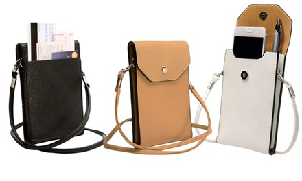 Smartphone Wallet Bag with a Removable Shoulder Strap: One $12 or Two $19