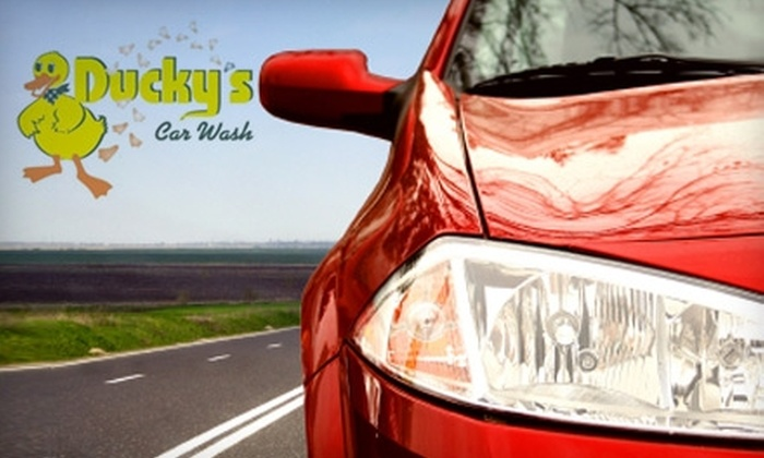 Ducky's Car Wash - Multiple Locations: Auto-Cleaning Services at Ducky's Car Wash. Choose Between Two Options.