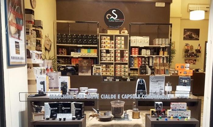 Fino a 400 cialde o capsule per Nespresso, Lavazza Espresso Point, Lavazza A Modo Mio. Valido in 5 sedi
