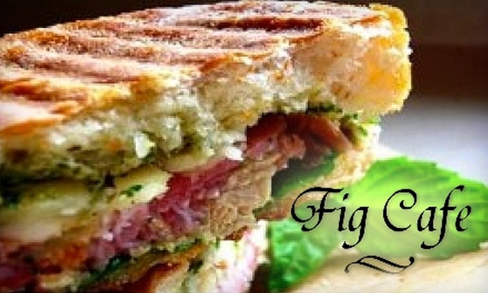 Fig Cafe & Grill - Terry Sanford: $10 for $20 Worth of Eclectic Fare and Beverages at Fig Cafe & Grill