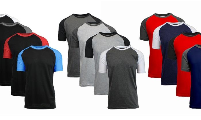 Galaxy by Harvic Men's Raglan T-Shirts (4-Pack)