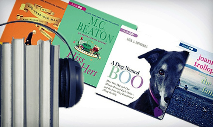 AudioGO: Audiobooks CDs and MP3 Downloads from AudioGO (Half Off). Two Options Available.