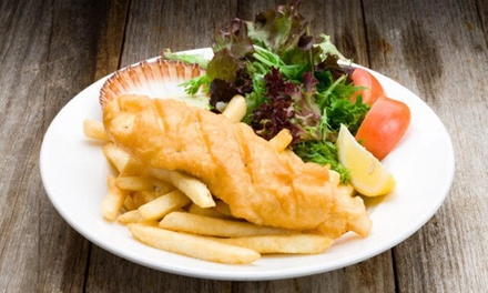 Fish and Chips with Salad + Drink for One $11 or Two People $19.90 at Fish Pier Grill & Oyster Bar Up to $35 Value