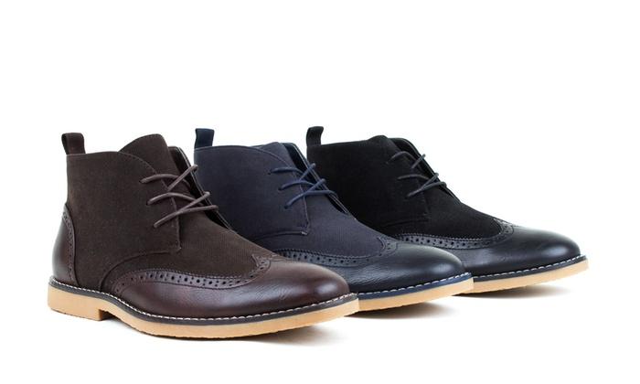 Tony's Casuals Men's Wing-Tip Chukka Boots