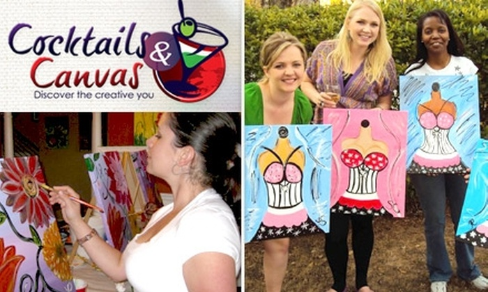 Cocktails & Canvas - Chamblee-Doraville: $10 for a Two-Hour Painting Class with Materials Provided at Cocktails & Canvas ($25 Value)