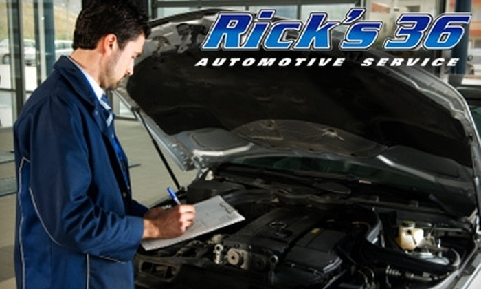 Rick's 36 Automotive Service - Stillwater: $18 for an Oil Change and 22-Point Inspection at Rick's 36 Automotive Service in Stillwater (Up to $80 Value)