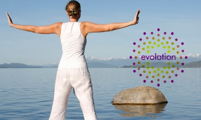 evolation - Multiple Locations: $30 for One Month of Unlimited Yoga Classes at evolation (Up to $140 Value)