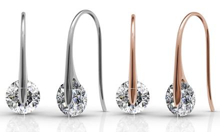 1 o 2 pares de pendientes bañados en oro blanco y adornados con cristales Swarovski®