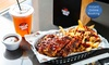 Ribs, Loaded Fries and Drink