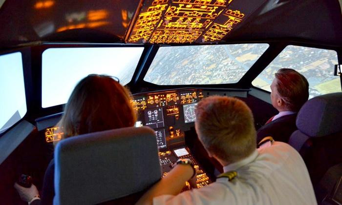 Aerotask GmbH Zentrale - Aerotask GmbH Zentrale: 30 oder 60 Min. Flugtraining oder 4 Std. Profigruppenflug im Airbus A320 Flugsimulator bei Aerotask (bis zu 55% sparen*)