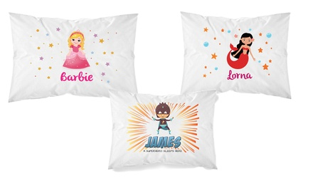 Personalised Kids' Pillowcase in Choice of Design: One $8 or Two $15 Don't Pay up to $50.46