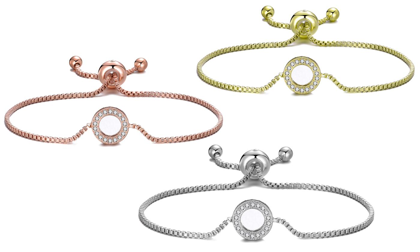 Up to Three Philip Jones Circle of Life Friendship Bracelets with Crystals from Swarovski®