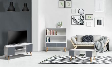 Table basse, Meuble TV ou Bibliothèque Olaf