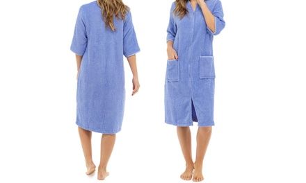 Womens Towel Zip-Through Robe