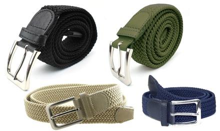 2x Cintura elastica da uomo: Beige chiaro e Beige scuro