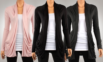 groupon daily deal - Women's Draped Spring Cardigans. Multiple Colors Available. Free Returns.