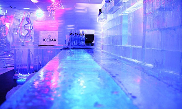 ICEBAR - Southwest Orange: Arctic-Themed-Bar Entry with Drink Refill for One or Two at Icebar (Up to 61% Off)