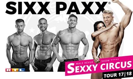 """Sixx Paxx Male Revue Show """"Sexxy Circus"""" im Oktober oder November in vielen deutschen Städten (bis zu 27% sparen)"""