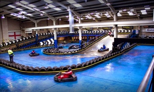 The Full Throttle Raceway: 25- or 50-Lap Go-Karting Experience for Up to Four at The Full Throttle Raceway