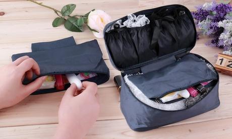 Organizador de ropa interior y cosméticos para viajes